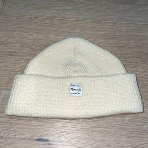 Madewell Cream Wool fisherman's Beanie+Vintage Look+Knit+EUC+Warm+Off White